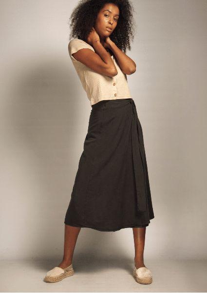 falda fridays project negra hecho en espana