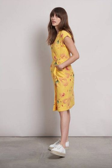 dress vestido amarillo flores verano komodo