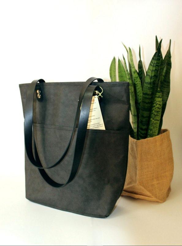 bolso-margarita-tejido reciclado-negro-con-negro