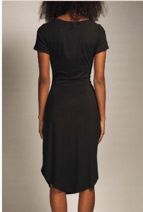 vestido tejido lyocel negro local Barcelona