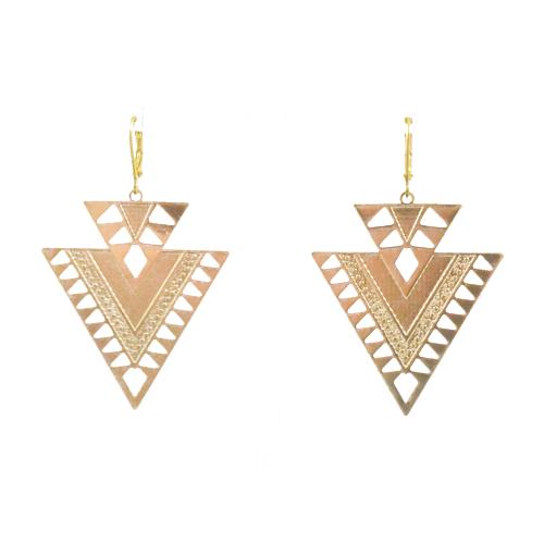 pendientes triángulo dorado