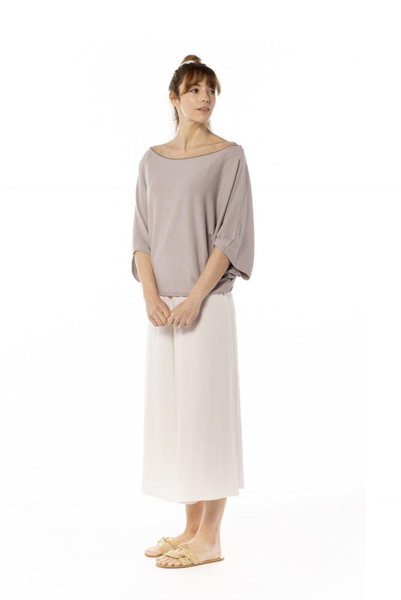 Jersey murciélago pechina gris claro. Tienda online comprar ropa ecológica y moda sostenible al mejor precio
