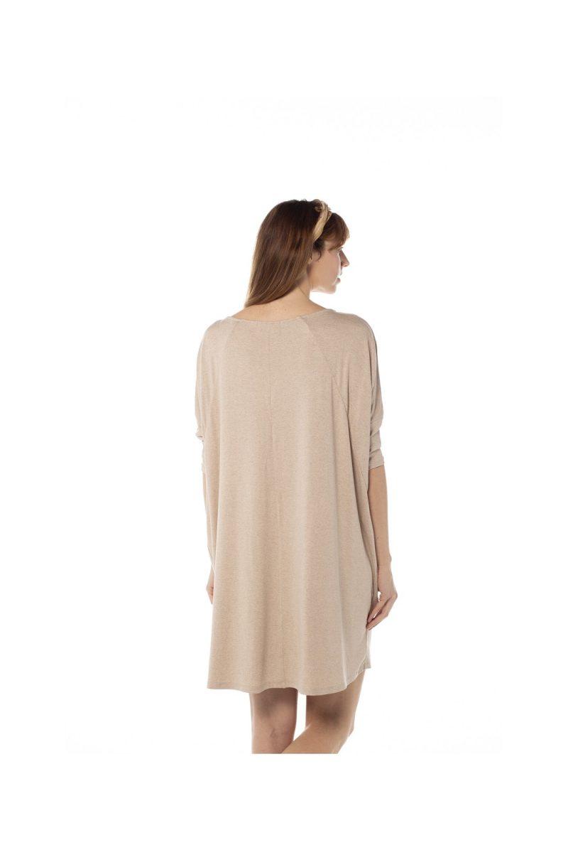 Vestido frunce vigoré, 100% viscosa. Tienda online comprar ropa ecológica y moda sostenible al mejor precio.